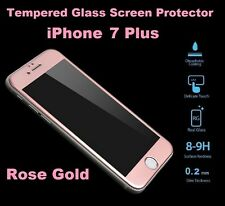 Libre de burbujas Completo Protector de Pantalla de Vidrio Templado para iPhone 7 Plus Dorado Rosa