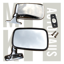 Vw Mk1 Rabbit Scirocco Cabriolet Chrome Flag Mirrors PAIR All Stainless Steel