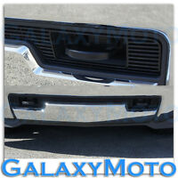 2014 Chevy Silverado 1500 Black Lower Bumper Billet Grille Insert w/ Tow Hook