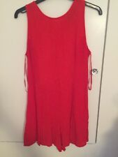 Motel Rocks Size S Red Playsuit