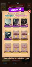 Coin Master Cards  Film Noir Set White Cards (4 cards total)