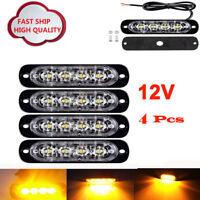 6 LED RECOVERY STROBE AMBER FLASHING LIGHT BREAKDOWN LAMP GRILL 12/24V