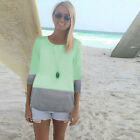 Women Summer Casual T Shirt Short Sleeve Loose Blouse Ladies Daily Gradient Top