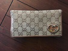 Gucci (Authentic) Womens Wallet W/Heart Detail