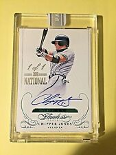 2018 Flawless The National Chipper Jones On Card Autograph SEALED #1/1  1 OF 1