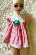 Vintage Pink Smock Style Minidress, fits Msd Bjd Dolls Read Description