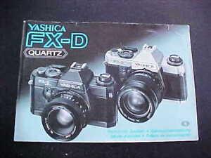 Yashica FX-D Quartz Camera Instructions Booklet
