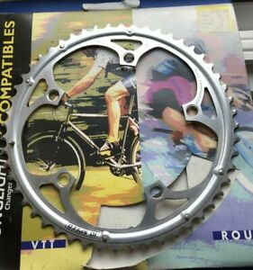 NEW OLD STOCK CAMPAGNOLO 10 SPEED ALLOY CHAINRING,52 TOOTH,135MM BCD