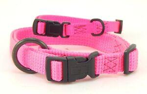 "HAMILTON ""Fits All"" Adjustable Nylon Dog Collar, Hot Pink"