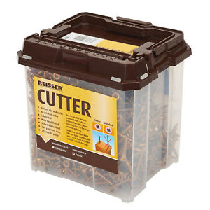 REISSER CUTTER SCREW TUBS - YELLOW POZI COUNTERSUNK PROFESSIONAL WOODSCREWS GOLD