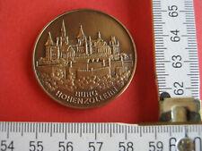Medaille vermutlich Kupfer Burg Hohenzollern Landeswappen Baden-Württemberg