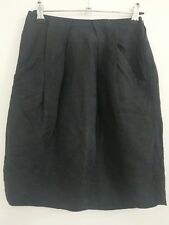 Country Road silk and linen skirt size 6 black fully lined pockets