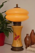 unique Collector Français VERRE ART NOUVEAU LAMPE DE BUREAU signé