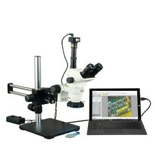 6.7-45X Zoom Stereo Microscope+144 Led Ring Light+Boom Stand+10Mp Digital Camera