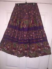 Square Dance Ladies Purple Printed Skirt - Small
