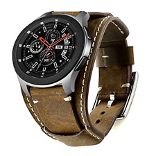 Samsung Galaxy Watch 46mm S3 Frontier Classic Bands Genuine Leather Cuff Strap