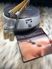 Conair Body Benefits Heated Hot Stone Spa Hot Rocks Therapy Kit HR10 Bamboo Oils