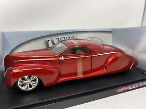 1/18 Mattel Hot Wheels Hot Wheels Lincoln Zephyr Red WOW Scrape Part # 54589