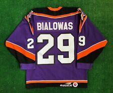 90's Philadelphia Phantoms Frank Bialowas Animal Bauer AUTHENTIC AHL Jersey 48