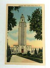 Baton Rouge Louisiana State Capitol Linen Vintage Postcard