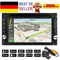 "6.2""Doppel 2Din Autoradio DVD GPS Navigation MP5 Player Touchscreen Bluetooth GE"
