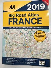 2018/2019 AA BIG ROAD ATLAS OF FRANCE / LARGE FRENCH MAP Inc TOWN PLANS CITY NEW