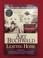 """Art Buchwald Signed Paperback Book """"Leaving Home"""" autographed by author"""