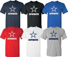 DALLAS COWBOYS Navy & White & Gray T-shirt  Graphic STAR S-4XL