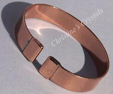 MAGNETIC Solid Copper PLAIN WIDE Bracelet - Healing Arthritis Pain Relief (M80)