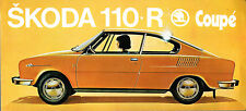 Skoda S110 R Coupe Colour & Trim c 1972 UK Market Multilingual Leaflet Brochure