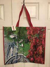 TJ MAXX Bicycle Nature Trail Shopping Bag Reusable Eco Travel Tote NWT