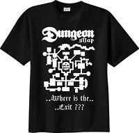 t-shirt THE Dungeon Master map D&D dungeons & dragons dado gdr TSHIRT Maglietta