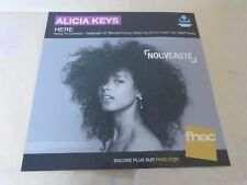 ALICIA KEYS - HERE !!!!!!!!!!PLV 30X30 CM !!FRENCH RECORD STORE PROMO ADVERT