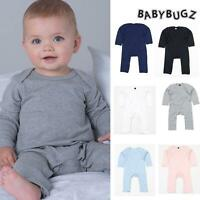 BabyBugz Baby Rompersuit - Toddler Plain Cotton Full Body One piece 3-18 months