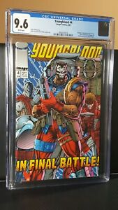1993 Image Comics Youngblood #4 CGC 9.6 White Pages Rob Liefeld Art Low Census