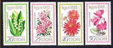 Germany DDR 841-44 MNH 1966 Various Flowers Intl Flower Show Erfurt Full Set