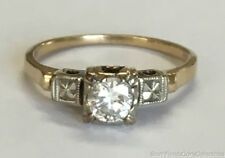 Estate Jewelry 0.50 Ct Round Diamond Solitaire Engagement Ring 14K Yellow Gold 5