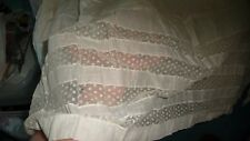#524F ANTIQUE  WHITE cotton & LACE SKIRT/ Slip hand made Machine sewn Victorian