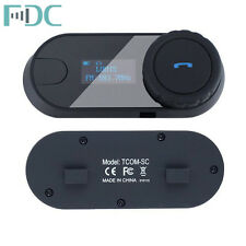 FDC TCOM-SC w/ Screen Motorcycle Helmet Bluetooth Intercom Headset+Earphone+Clip