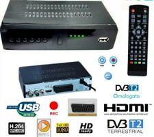 DECODER RICEVITORE DIGITALE TERRESTRE DVB-T2 TV SCART HDMI 1080P REG