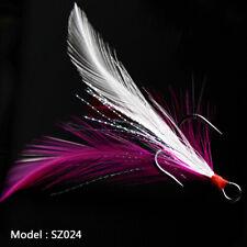 20pcs Fishing Hooks Treble With Feather Minnow Fishing Lure Crankbaits SZ24 2/0#