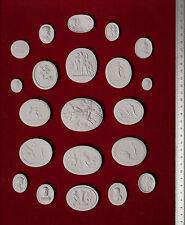 #4. 21 Grand Tour Cameos plaster intaglio Gems Medallions seal Classic Impronte