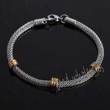 Unisex Men's Punk Stainless Steel Chain Wristband Cuff Bangle Bracelet Jewelry