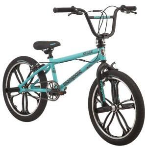 BMX Girls Kids Bike 20 inch Teal Freestyle Pegs Single-Speed Caliper Brakes