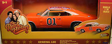 DUKES OF HAZZARD GENERAL LEE DIECAST METAL 1:18 SCALE ORANGE 1969 DODGE CHARGER