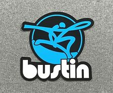 Bustin Longboards Skateboard Sticker 3.2in si