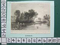 C1830 Antico London Stampa ~ Dorney Chiesa