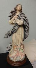 "Vintage Redaelli Florence Italy 13"" Girl Lady Figurine w/ 2 Babies 1983"