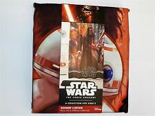 New Disney Star Wars Force Awakens Fabric Shower Curtain 100% Polyester NWT