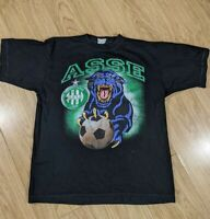 Vintage AS Saint Etienne Football Club, Retro T-Shirt, Large, The Green, ASSE,
